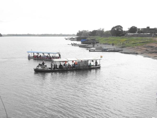 El río Beni entre Rurrenabaque y San Buenaventura. Foto R.Puig
