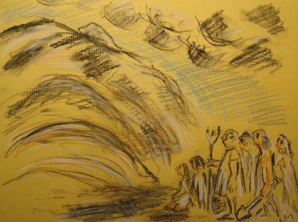 """""""in monte terram intumescere"""". Dibujo R.Puig"""