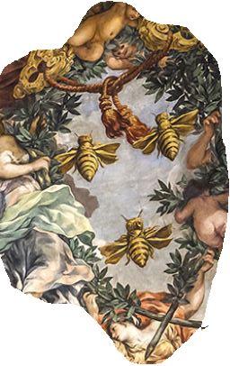 Las abejas Barberini. Palacio Barberini. Tintoretto. Detalle