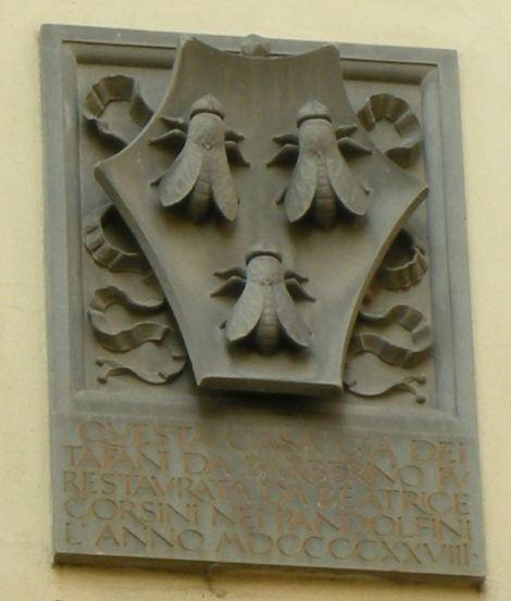 Los tábanos de los Barberini. Palazzo Tafani da Barberino. Florencia. Foto Silko. Wikipedia Commons