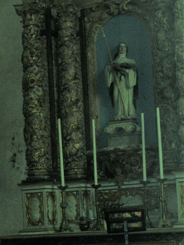 Altar barroco de Santa Gertrudis.  s. XVI. Selongey. Foto R.Puig.