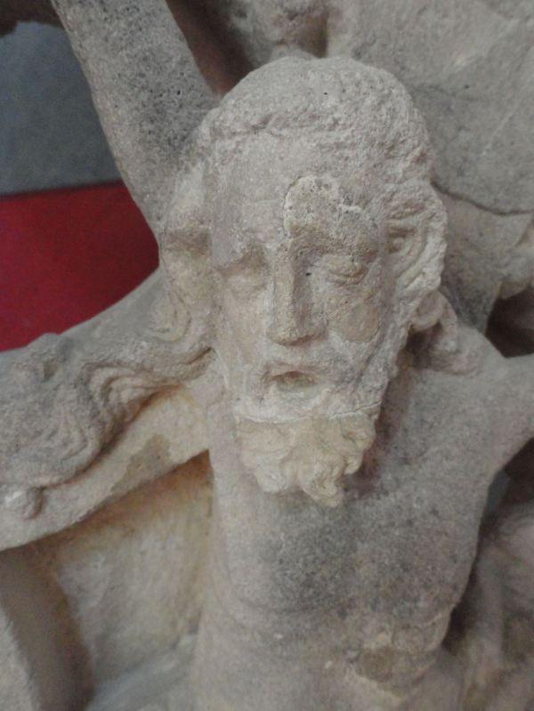 Calvario del s. XIV. Detalle. Colección Aynard. Fontenay. Foto R.Puig