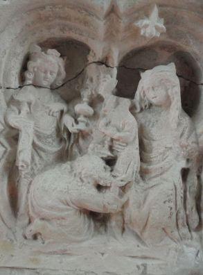 Detalle del altar de Fontenay. Foto R.Puig