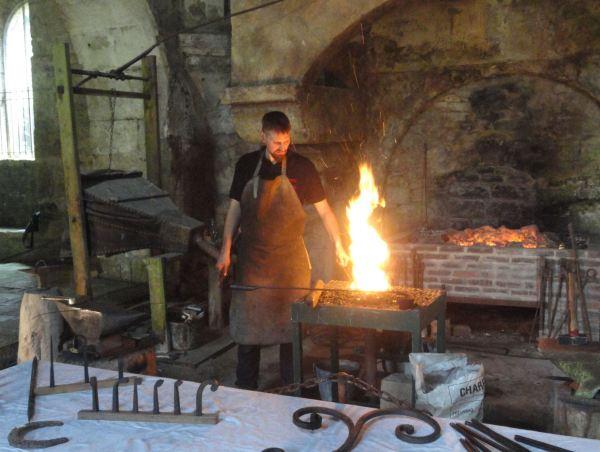 En la forja de Fontenay. Foto R.Puig.