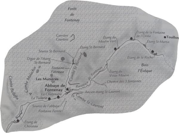 Hidrografía de Fontenay según ANDRÉ, Louis