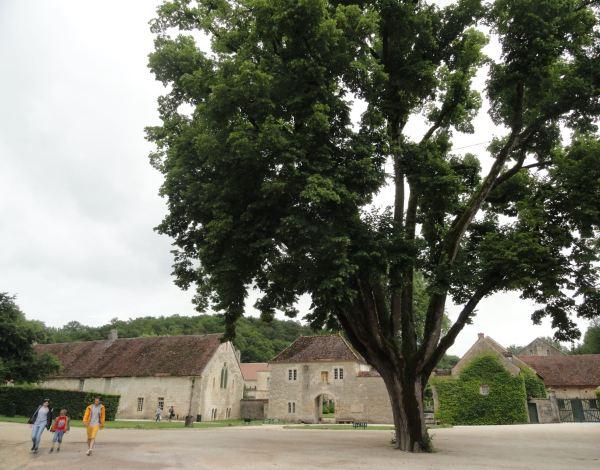 La entrada de la abadía de Fontenay. Foto R.Puig