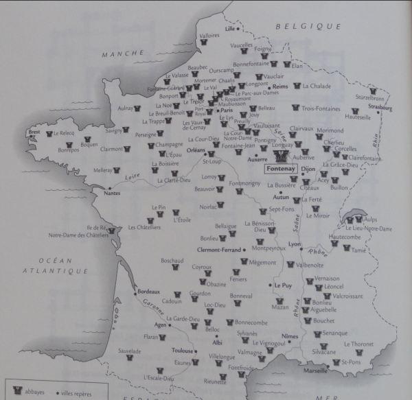 La red de monasterios del Cister en la Francia de los siglos XII y XIII. ANDRÉ, Louis p.44