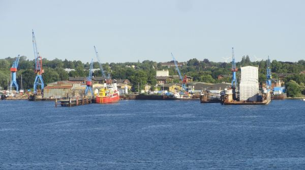 Llegando a Kiel.. Foto R.Puig