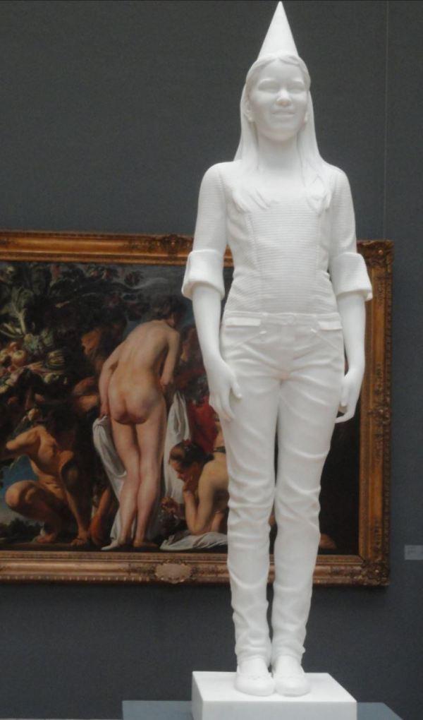 Mi futura reina Elisabeth de Bélgica. Jean Fabre.Museos Reales de Arte de Bruselas. Foto R.Puig