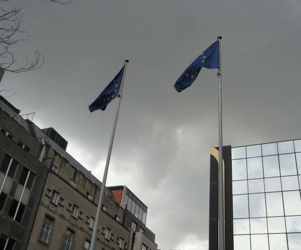 Nubarrones sobre Bruselas. Foto R.Puig