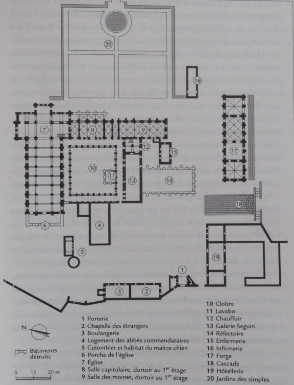 Plano de la abadía cisterciense de Fontenay. ANDRÉ, Louis, p. 27