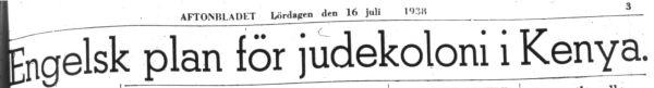 Aftonbladet. 16 julio 1938