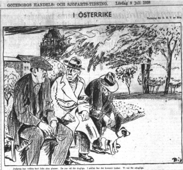 En los bancos de Austria. GHT. 9 julio 1938
