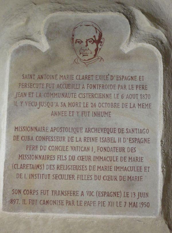 Memoria de otro exiliado catalán. Abadía de Fontefroide. Foto R.Puig