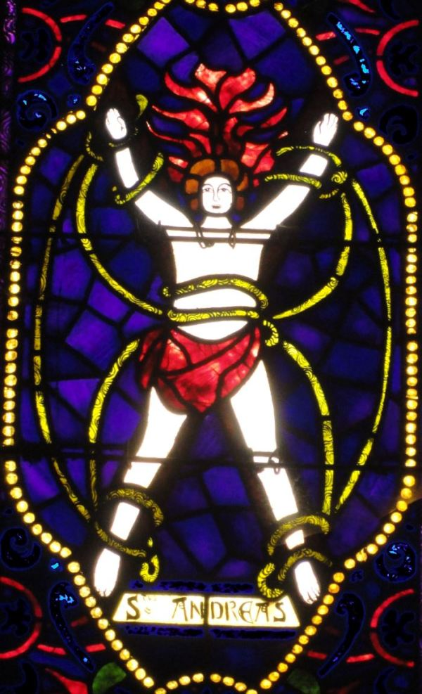 San Andrés según Richard Burgsthal. Iglesia abacial de Fontefroide. Foto R.Puig
