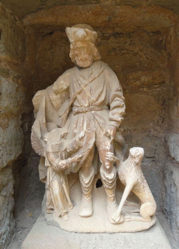 an Roque y su perro. Abadía de Fontefroide. Foto R.Puig