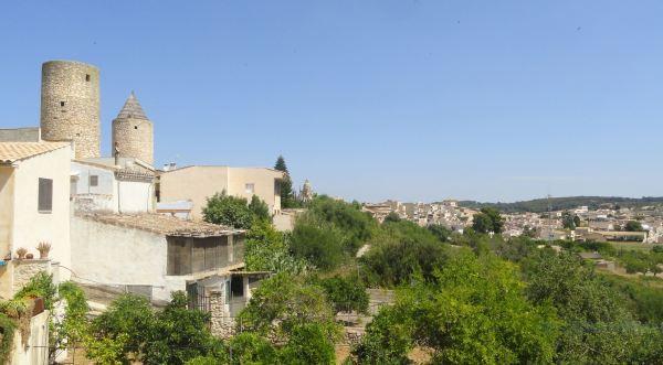 Vista de Montuiri desde la calle de los Molinos. Foto R.Puig