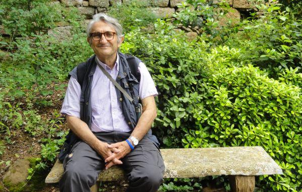 Visitante en Fontefroide. Foto R.Puig