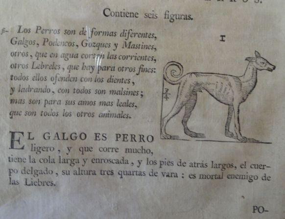 Sobre los perros. Varia commensuración. Juan de Arphe y Villafane, Madrid 1795