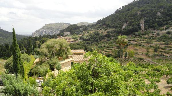 Vista desde la terraza de la Cartuja de Valldemossa. Foto R.Puig