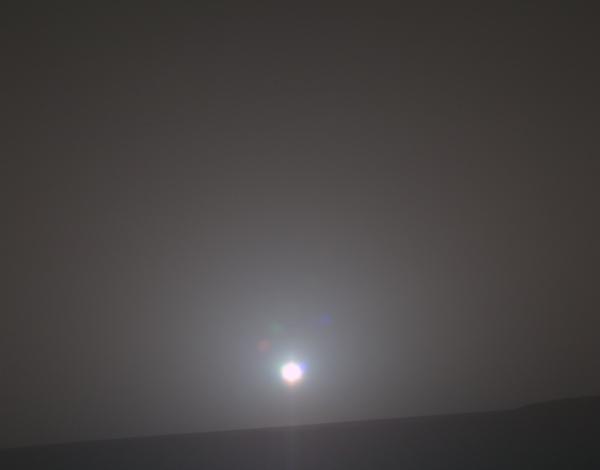 Amanecer en Marte. Foto NASA