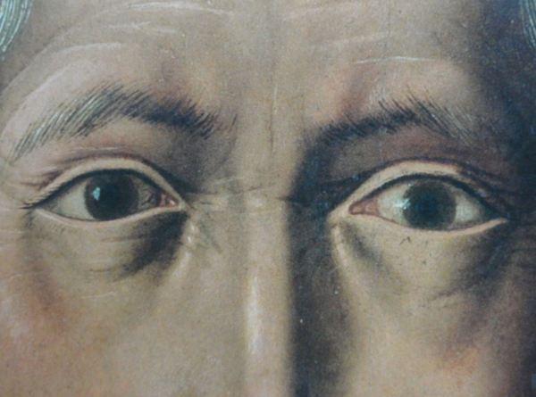 Bartolomé Bermejo. Santo Domingo de Silos. 1474-1479 Detalle. Museo del Prado.