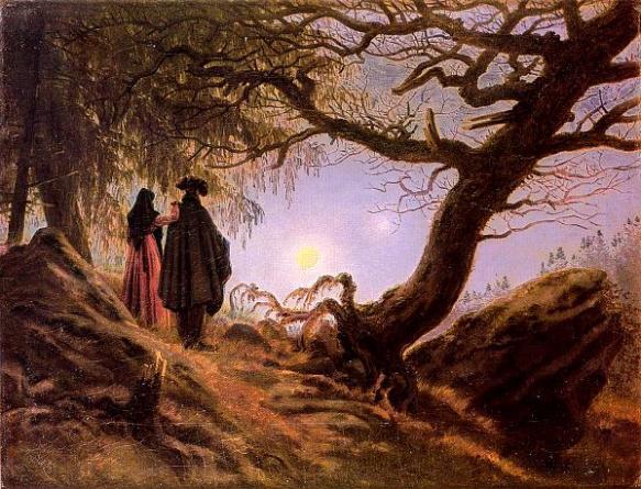 Caspar David Friederich, Hombre y mujer mirando a la luna.1824
