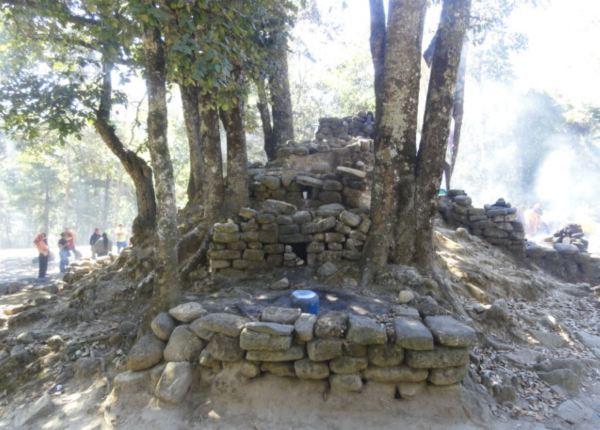 Túmulo de ofrendas. Iximche. Guatemala. Foto R.Puig