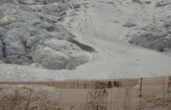 Muros de adobe. Huaca de la Luna. Trujillo. Foto R.Puig