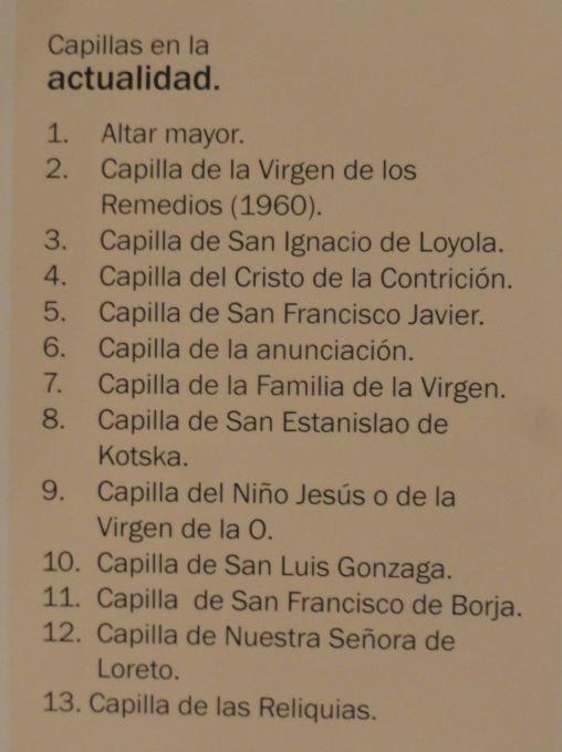 Capillas actuales de San Pedro de Lima