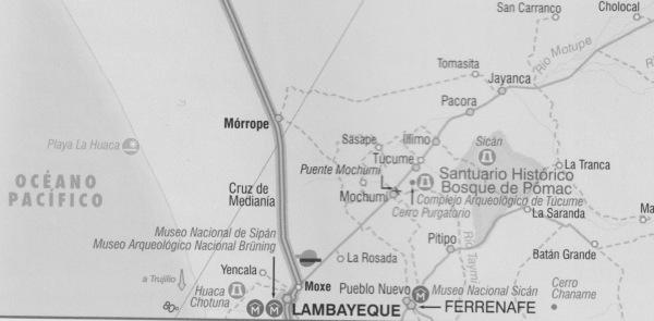 Complejos arqueológicos y museales. Lambayeque y Túcume. Hojas de ruta del Perú.