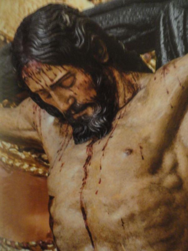 Cristo de la contrición. Anónimo. s.XVII. Detalle. San Pedro de Lima.