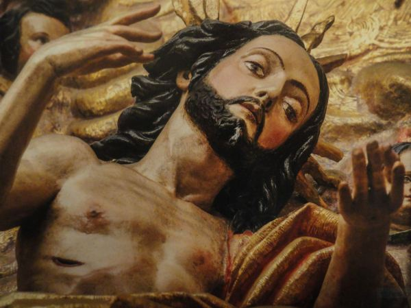 Detalle de Cristo resucitado. Anónimo limeño. s.XVII. Retablo de Loreto. San Pedro de Lima. (*)