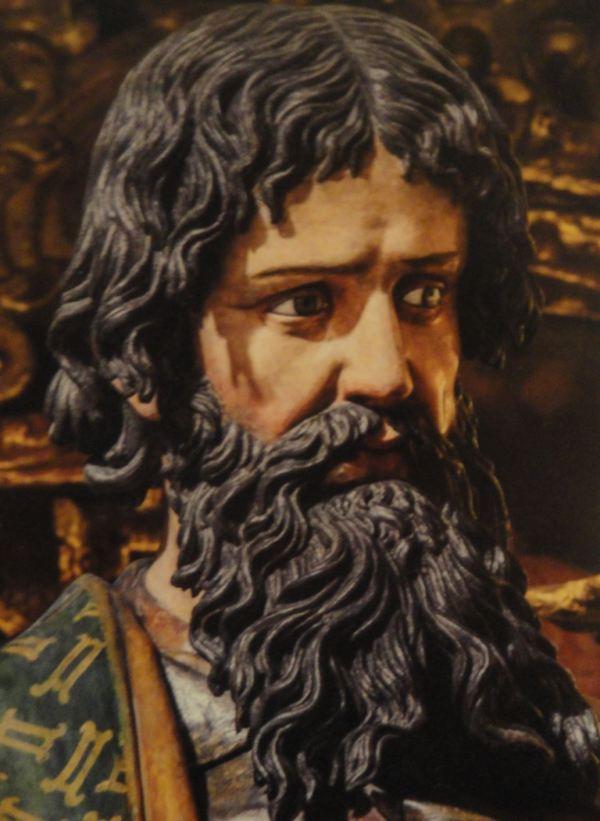 Detalle de San Joaquín. Gregorio Fernández s. XVII. San Pedro de Lima. Detalle.