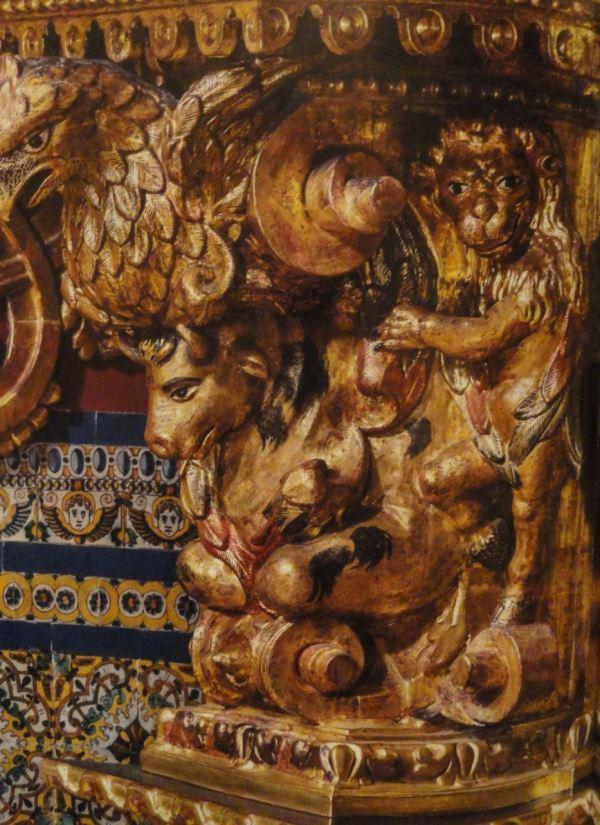 Detalle de tetramorfo. s.XVII. San Pedro de Lima