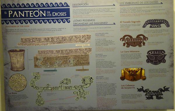 Diagrama del panteón de los dioses. Museo de sitio de Túcume