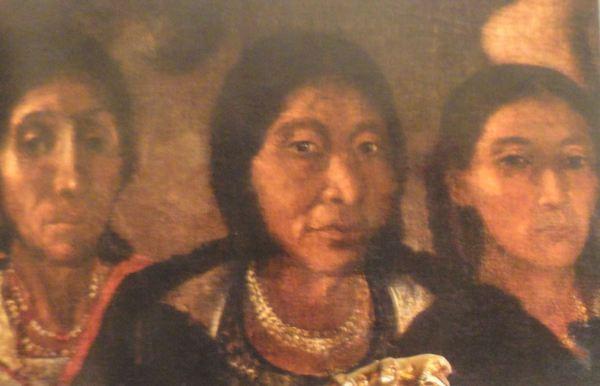 Donantes indígenas en el cuadro de la Circuncisión. Anónimo s.XVII. San Pedro de Lima.