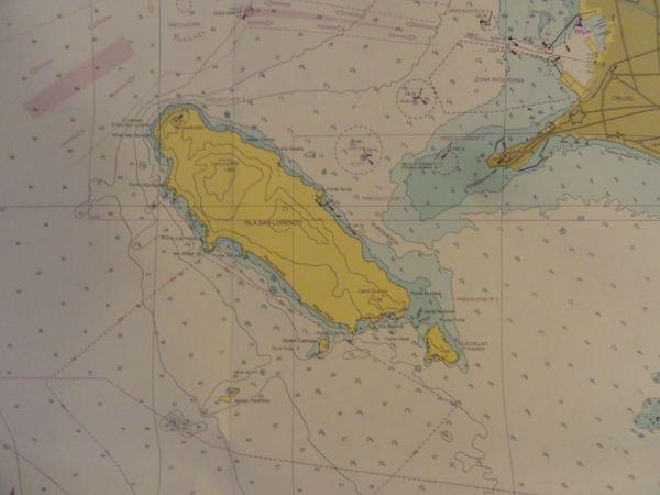 Mapa de la zona. Dirección de Hidrografía y Navegación del Perú