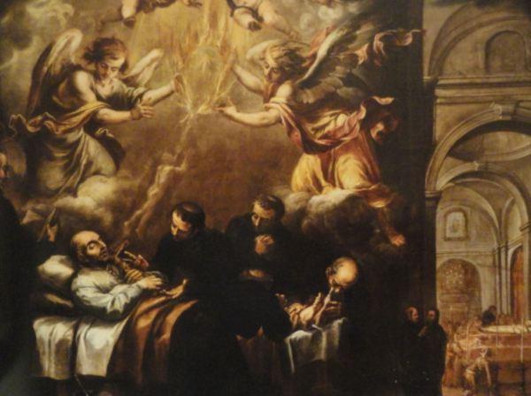 Muerte de San Ignacio. Valdés Leal. s.XVII. San Pedro de Lima.