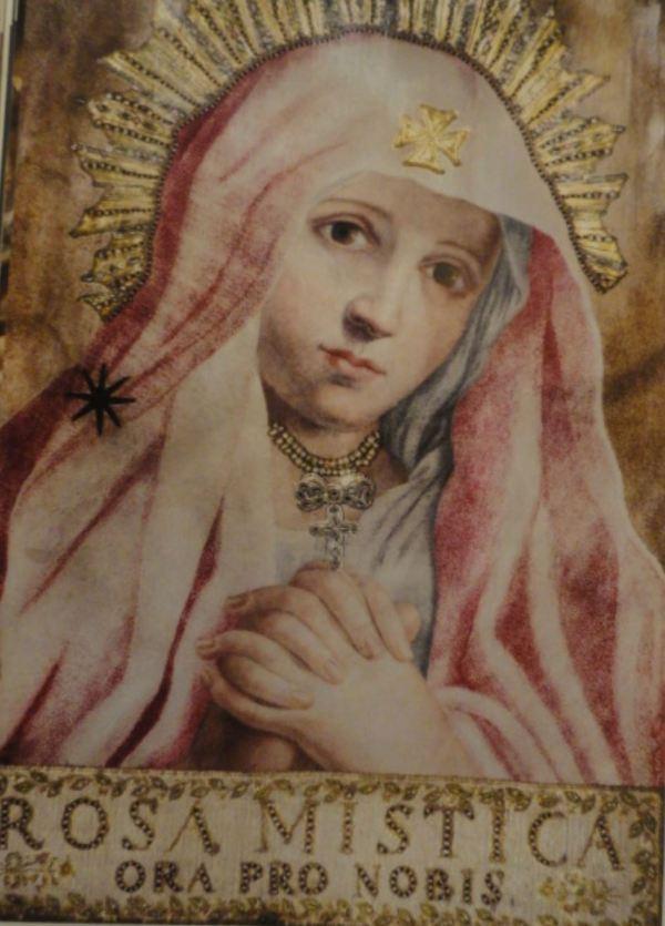 Rosa mística. Pastel sobre tela. Anónimo italiano. San Pedro de Lima. s.XVII.