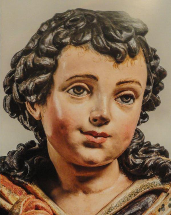 Sagrada familia. Anónimo limeño s. XVII. Detalle. San Pedro de Lima.