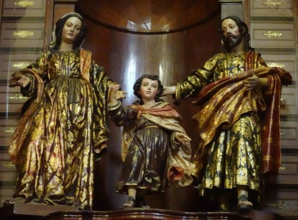 Sagrada familia. Anónimo limeño s. XVII. San Pedro de LIma. Foto R.Puig