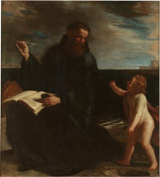 Meter el mar en un hoyo. Guercino. Museo del Prado