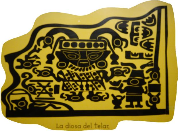 Túcume. La diosa del telar. Reproducción. Museo del sitio.