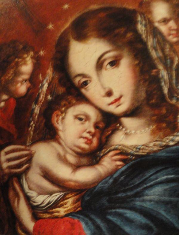 Virgen con el niño. Cristobal Lozano. s.XVIII. San Pedro de Lima
