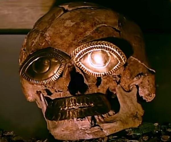 Cabeza Señor de Sipán.Museo Tumbas Reales de Sipán. Foto R.Puig