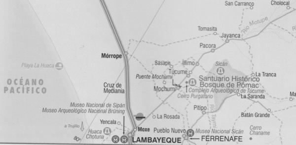 Complejos arqueológicos y museos en torno a Lambayeque