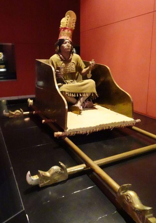 El Señor de Sicán. Reconstrucción. Museo del Señor de Sicán. Lambayeque. Perú