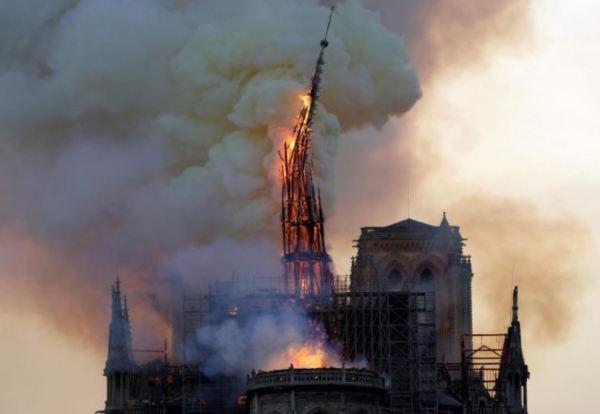 Notre-Dame en llamas. Fuente: La Voix du Nord