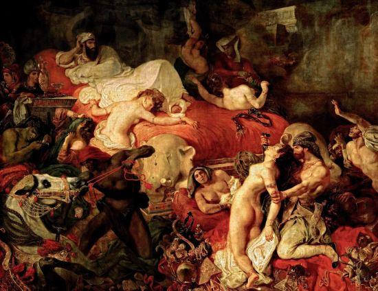 Delacroix. La muerte de Sardanápalo,